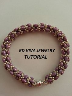 Tutorial Rope Bracelet Superduo by RDVIVAJEWELRY on Etsy
