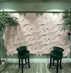 Orac Decor 3D Trapezium decorative wall panels create a visually stunning feature wall
