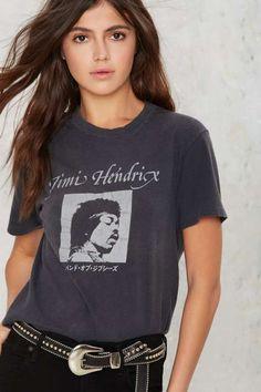 Vintage Jimi Hendrix '82 Japanese Concert Tee #vintage #JimiHendrix #NastyGal