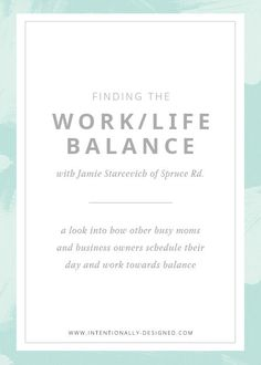 A couple of months ago, I wrote a post about how I schedule my work week and how I get it all done as a stay at home mom of a toddler and business owner of a growing, thriving business. The response was overwhelming, and I quickly realized how many of you needed guidance for creating your own schedule and finding balance between work and life. I realized that we all want a glimpse of how others are making it work so we can better structure our own lives.