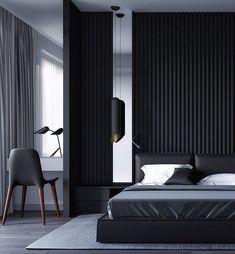 Essential things for Minimal Interior Design Inspiration – Interior Design Examples, Black Interior Design, Luxury Interior, Design Ideas, Bedroom Design Inspiration, Modern Bedroom Design, Bed Design, Hotel Bathroom Design, Hotel Room Design