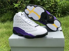 Do you want to own this Air Jordan 13 Hyper Royal?It features a white full-grain leather upper with Hyper Royal suede that wraps around the midsole and heel, and a black rubber outsole. Jordan 13, Jordan Shoes, Air Jordan Sneakers, New Jordans Shoes, Newest Jordans, Nike Air Jordans, Jordans For Men, Nike Sneakers, Custom Jordans