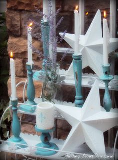 Finding Secret Treasure: Flower Cart and Candles