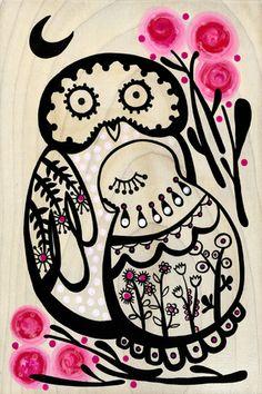 owls by Madeleine Stamer