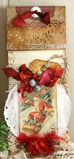 Christmas tag - vintage style