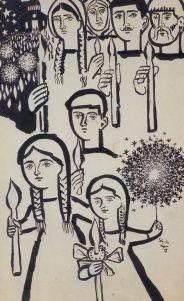 Βασιλείου Σπύρος – Spyros Vassiliou [1903-1985] | paletaart - Χρώμα & Φώς Greek Art, Folk Art, Faith, Character, Greece, Artists, Greece Country, Popular Art, Loyalty