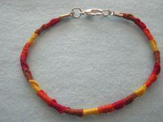 autumnal leaf friendship bracelet