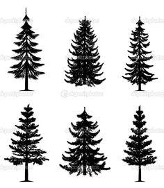 pine silhouettes