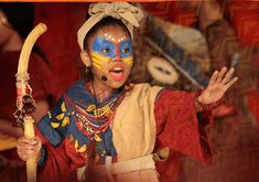 Rafiki from the Lion King Jr theatrical experience