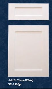 Drees Wood Products Cabinet door OV-3 Edge 2610  sc 1 st  Pinterest & Drees Wood Products Cabinet Door in white OV-1 Edge 2110 | Hot Home ...