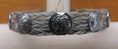 White Horse Hair Cuff Bracelet with Silver Accents   eBay