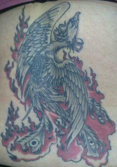 Feniks tattoo door Double D