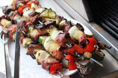 Pork Kabobs on Pinterest | Beef Kabob Recipes, Sausage Kabobs and ...