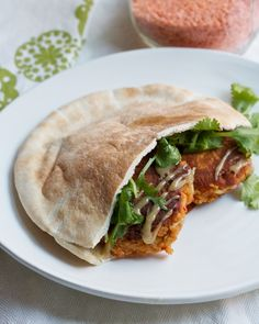 Smoky Red Lentil Burgers from @Cara K K / Big Girls, Small Kitchen