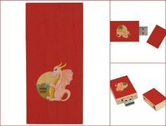 Transfer and store files with ease and style!  Get this pink dragon USB flash drive: www.teelieturner.com #flashdrive