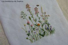 Fleurs des champs -Kasuko Aoki (1) - Photo de Côté broderie traditionnelle - Les Broderies de Sophie