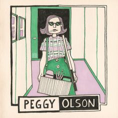 'PEGGY OLSON' illustration by Hilda Groenesteyn / studio Hille 2017