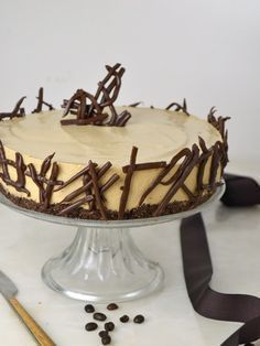 Tarta fría de mousse de café. deliciosa y ¡Sin horno! | Cuuking! Recetas de cocina No Bake Desserts, Delicious Desserts, Yummy Food, Sweet Recipes, Cake Recipes, Dessert Recipes, Pie Cake, No Bake Cake, Chocolate Mouse Cake