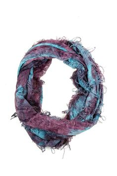 Embroidered Infinity Scarf.