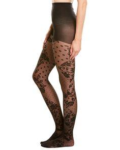 Flirt Seamfree Lace Net Stockings Navy One Size