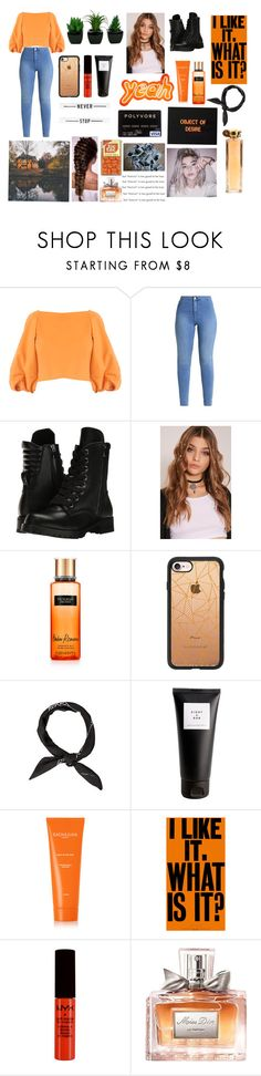 """Orange..."" by emilyg-5 ❤ liked on Polyvore featuring TIBI, Capezio, Victoria's Secret, Casetify, Eight & Bob, Sachajuan, NYX, Christian Dior and Givenchy"