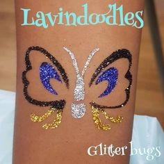 Glitter bugs x  #tempoarytattoos #tattootransfer #christmas #beautiful #lipstick #Lavindoodles #facepainting #facepaint #birthday #birthdayparty #partybag #facedesign #tiaras #crown #pamperedprincesses #allaboutthekids #glitterhair #tattoos #nails #nailvarnish #minimani #glittertattoos #mendhimagic #henna #hennatattoo #glitterandtwisted #glitterfaces #festivalface #glitterface