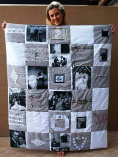 DIY Photo Memory Quilt - Find Fun Art Projects to Do at Home and Arts and Crafts Ideas