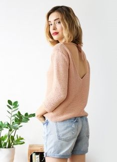 Knitting Kit Pima Cotton Silver Monk Sweater 1