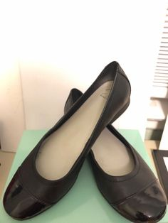 82dad20647c Clarks Ballet Flats Black Leather Women Shoes Size 7 Medium (B M)  fashion