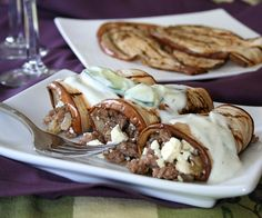 Grilled Eggplant Rolls with Tzatziki from @Carolyn Ketchum