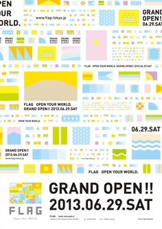 Japanese Poster: FLAG Grand Open! Shinpei Hasegawa. 2013
