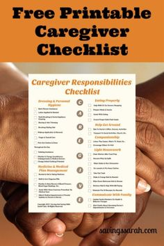 Becoming a caregiver or need to know about caregiving duties to hire help? This free, printable Caregiver Responsibilities Checklist will come in handy. Elderly Activities, Dementia Activities, Physical Activities, Fun Activities, Dementia Care, Alzheimer's And Dementia, Caregiver Quotes, Stroke Recovery, Aging Parents