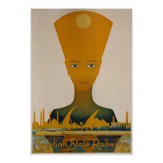 Vintage Egypt Train Travel Ad Print