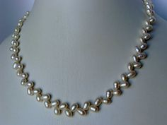 Freshwater Pearl Sterling Silver Necklace by VestaJewelry on Etsy