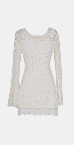 Bell Sleeve Hippie Chic Crochet Lace Dress