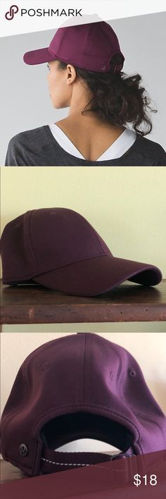 6875aa15fb7 Lululemon Baller Hat    Burgundy- Wine Color New. Never worn. No tags