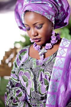 Nigerian beauty in purple