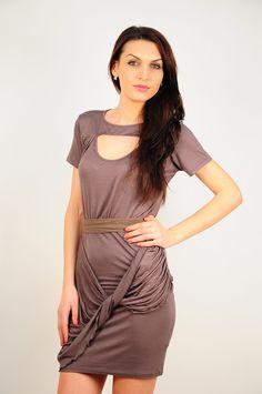 Rochie RVL cu decupaj. Bodycon Dress, Fitness, Dresses, Fashion, Vestidos, Moda, Body Con, Fashion Styles, Dress