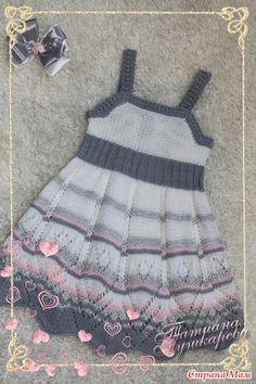 сарафан дочке в садик - Вязание для детей - Страна Мам Knit Baby Dress, Crochet Baby Clothes, Little Girl Outfits, Little Dresses, Tricot Baby, Newborn Crochet Patterns, Crochet Girls, Sweater Design, Knitted Dolls