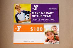 YMCA card donor tiles