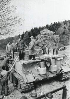 "fuhrerbefiehl: ""Original photos of Albert Speer riding a Tiger Tank prototype. """