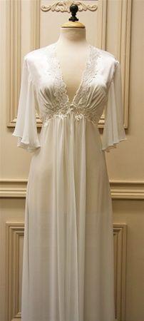 I wish it had long sleeves. $90 Jonquil Gardenia Bridal Robe