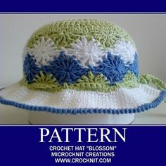 Free Crochet Pattern 90263AD Kid's Sun Hat : Lion Brand Yarn Company