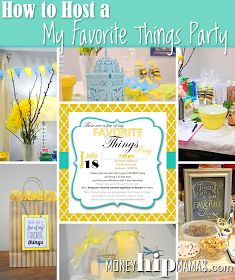 How to Host a My Favorite Things Party--Includes way to download cute, free invitation file! Fun idea for a girls night.