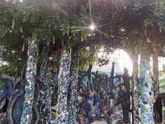 Mosaic tree trunks    Maybe a shower surround would work wit this?