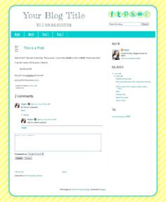Cute pink blog template for blogger blogs! This pretty blog template ...