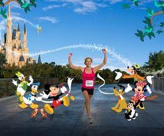 run in a Walt Disney half marathon or full marathon