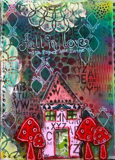 Art Journal using Lindy's stamp Gang sprays