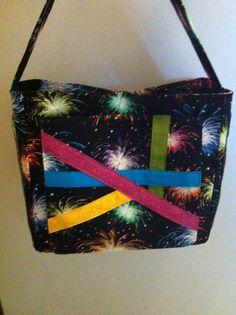 Purse with firecracker pattern