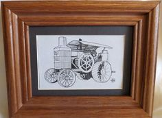 NEW HART-PARR 30-60 TRACTOR FRAMED & MATTED COLLECTIBLE PRINT OLIVER